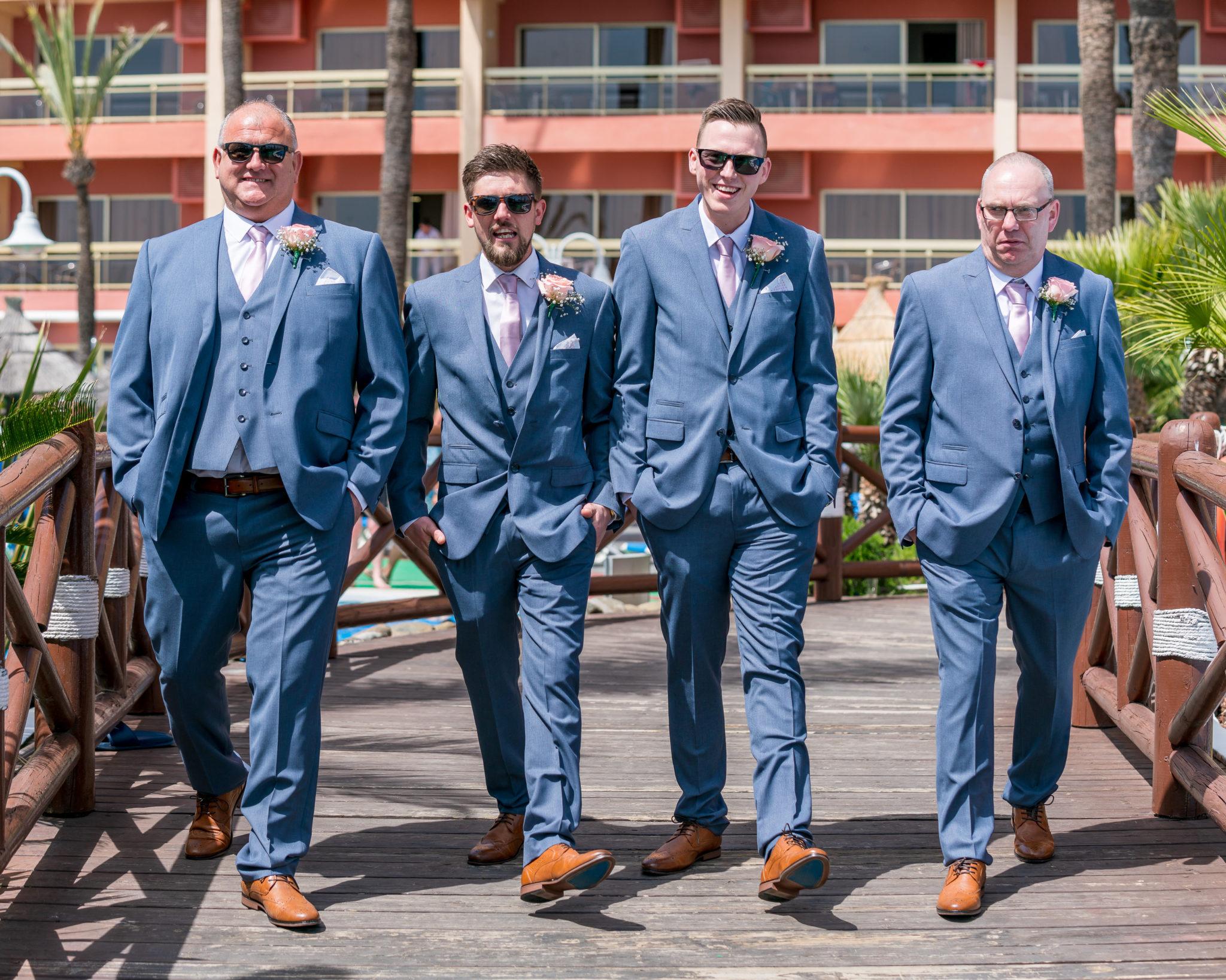 Groom & Groomsmen at Sunset Beach Club Wedding