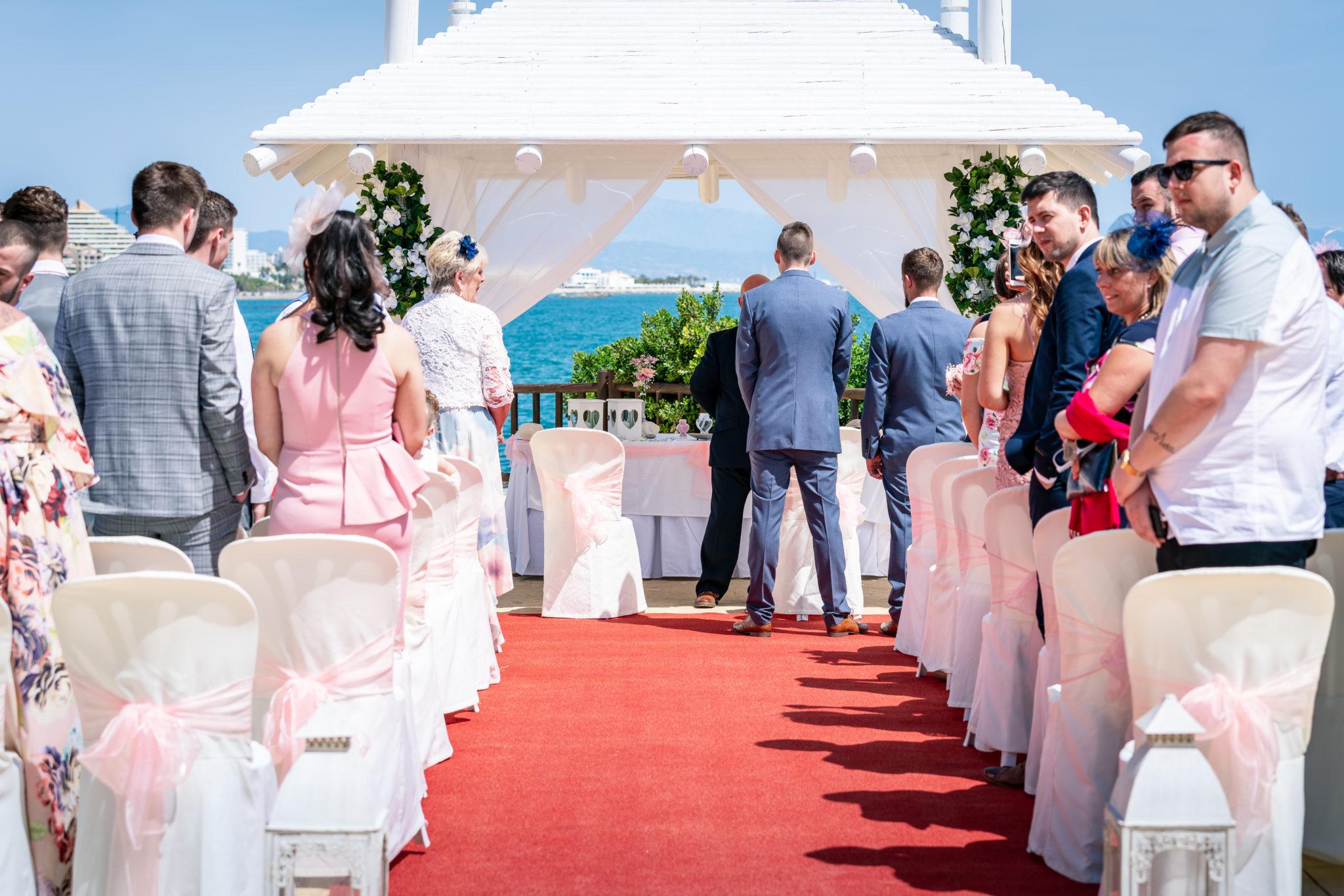Sunset Beach Club Wedding Blessing