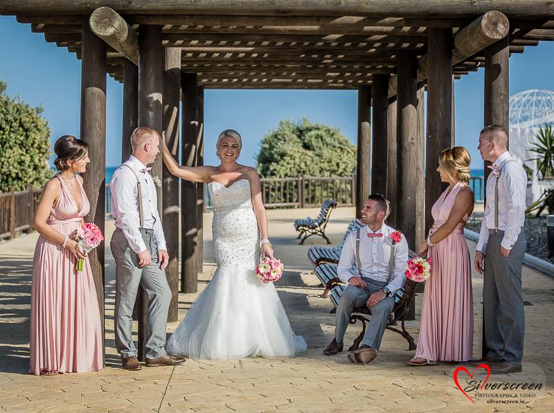 Silverscreen Sunset Beach Bridal Party