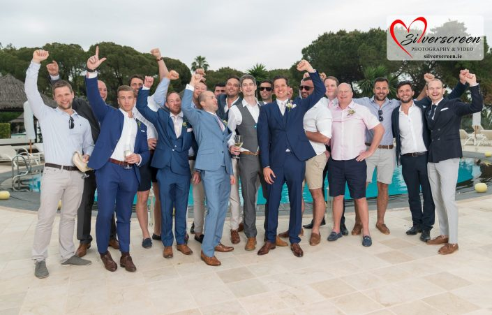 Groom and boys - Gran Melia Don Pepe Pool