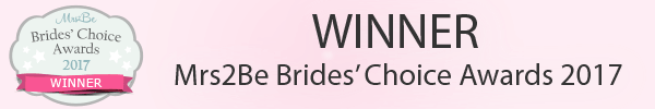 WINNER Mrs2Be Brides' Choice Award 2017