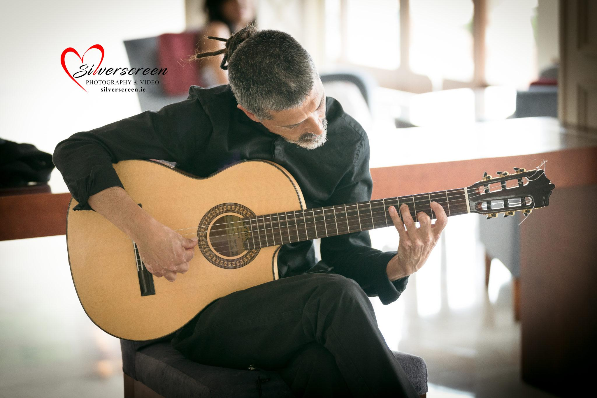 Spanish Guitarist at Marbella Wedding Spain