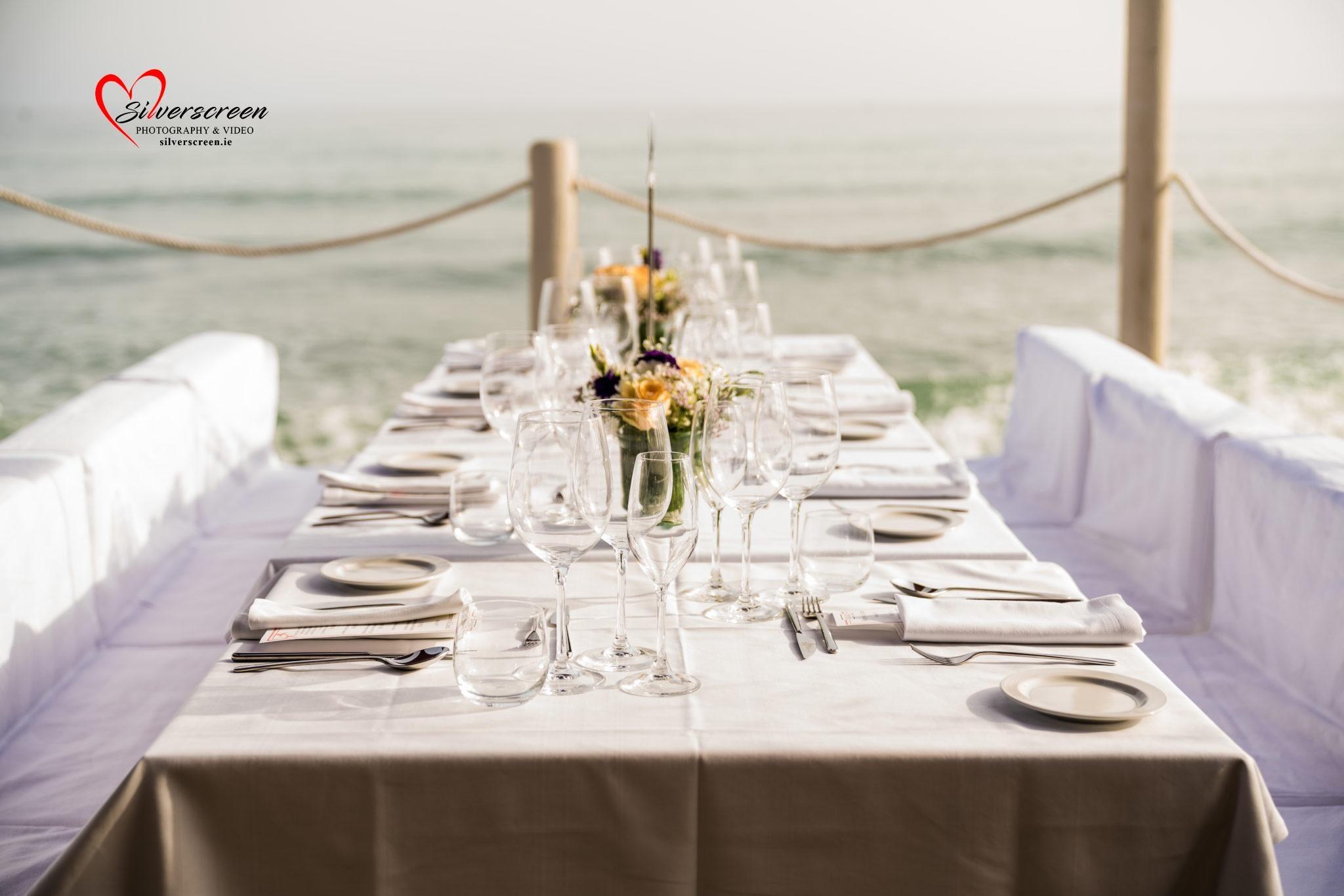 Wedding Reception Table Setup – Marbella Beach Club - Wedding Decor