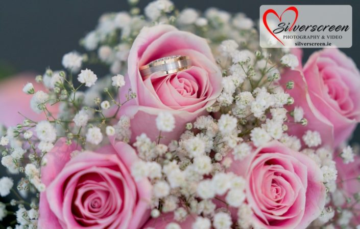 Brides Bouquet & Wedding Rings