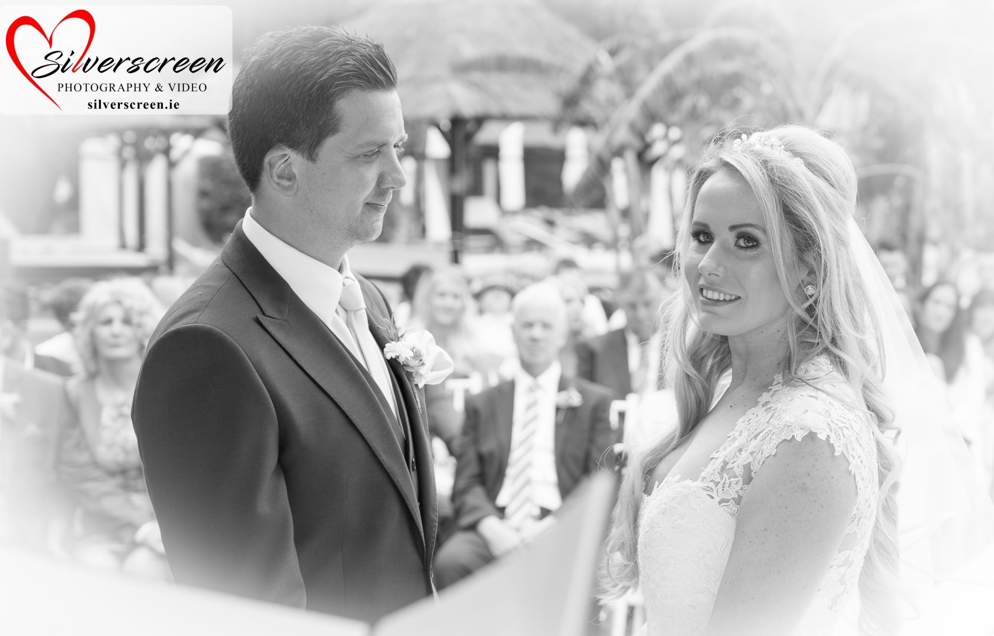 Gran Melia Don Pepe Hotel - Bride & Groom Wedding Ceremony - Black + White